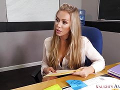 Naughty America Nicole Aniston Drilling In The Desk With Her