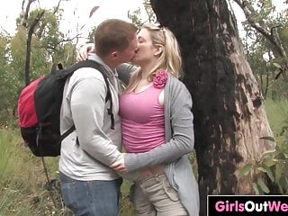 Hardcore Blonde Outdoor video: Busty Aussie blonde fucked outdoors