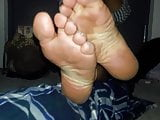 Blue Toes and sexy Soles