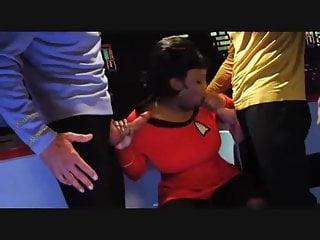 Black Big Ass Threesome video: Star Trek