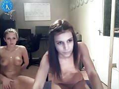 Two young cuties webcam masturbation