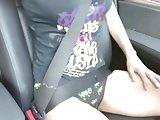teen in the car