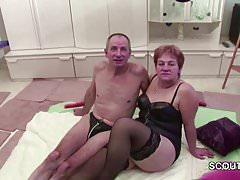 Nonna e nonno tedeschi in provini per il porno
