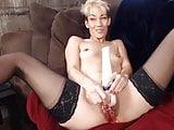 Goddess Eve in high heels fucks big pussy