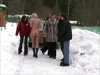Russian Public Nudity Funny video: Nude In Russia in the snow