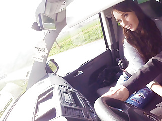 Teen Blowjob Outdoor video: VIP SEX VAULT - Hot Babe Receives A Crazy Ride From Driver