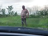 A piss in the country
