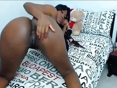 Hot Ebony Latina Big Ass y Tetas Webcam Show