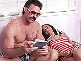TOUGHLOVEX Ebony cutie Julie Kay loves Karls big white cock