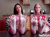 Our perfect feet are just begging to be covered in cum