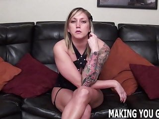 Femdom Pov Bisexual video: Lets see how big of a cock you can handle