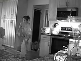 Unsecured Security Camera - woman & cat