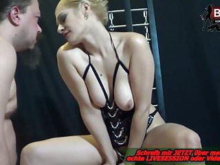 Milfs Bdsm Femdom video: Deutsch - REAL CUMSHOT MANUAL - Blonde domina session
