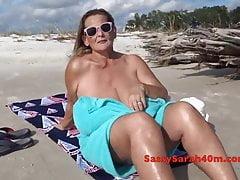 Beach Temptation For Giant Mama