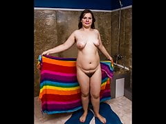 Chubby Russian Teen Takes A Shower