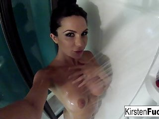 Big Tits Milf Big Natural Tits video: Kirsten showers with an underwater camera