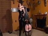 Slave gets spanked