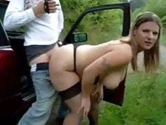 Shameless Huge-chested Wifey Gets Packed Up With Spunk By Stranger