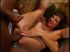 Young black stud gets head from married brunette whore then fucks her