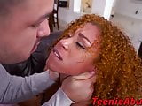 Black teen face slapped and hammered while she is tied up