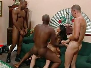 Bukkake Double Penetration Facial video: Double vag and cumshower