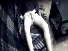 Horny girlfriend caught masturbating by hidden cam