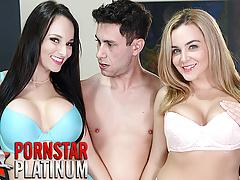 Threesome with pornstars Lexi Luna and Natasha Nice