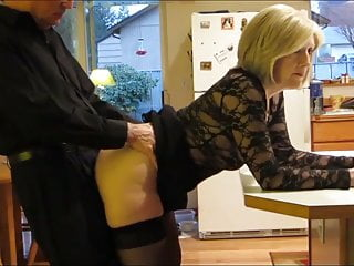 Milf Mature Creampie video: Divorced Mature MILF With Lucky Young Boy In Kitchen