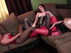 3 donne un sacco di nylon