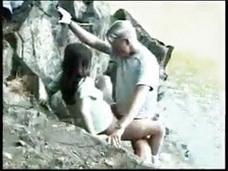 Old Amp video: Stepdad daughter on riverside