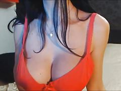 Hige Tits Chick Plays with Her Tight Cunt