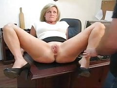 Caught playing with her pussy punishment for his secretary