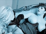 Lesbians Kristi & Cynthia Lick (Recolored)