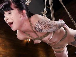 Small Tits Bondage Dildo video: Charlotte Sartre Bound and Machine Fucked