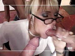 Dziwka zostaje podzielona między dwie męskie gwiazdy porno