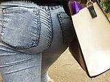 Tight Ass Teen blue jeans