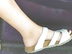 Candid feet  - Spanish fit woman