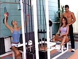 Nice threesome in a gym