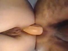 Amateur Pärchen beim Ficken mit Double Ended Dong
