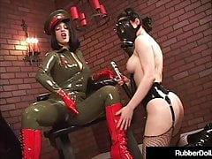 Military Babe RubberDoll Slap Ruby Lustre Z Riding Crop!