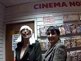 Barby playing at the cinema 1