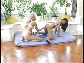 Lesbians pee on the floor 2