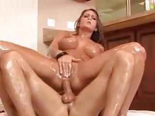 .Trina Michaels fucks with oil.
