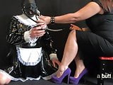 Femdom Mistress Dominates Her Sissy French Maid