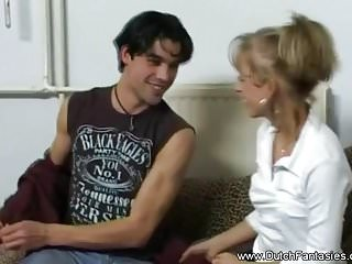 Blondes Hardcore Sex video: Dutch Sex On The Couch