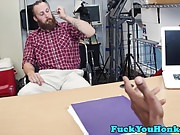 Bearded casting stud gets doggystyled by bbc