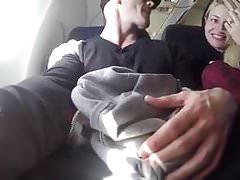 Succhiare il cazzo su un aereo