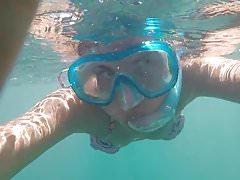 Sono divertente sotto l'acqua