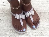 Christine Louis Blue Toes