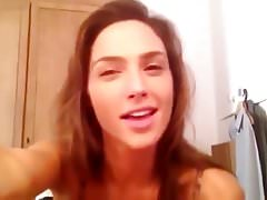 Gal Gadot sexy Lipsyching Webcam Video